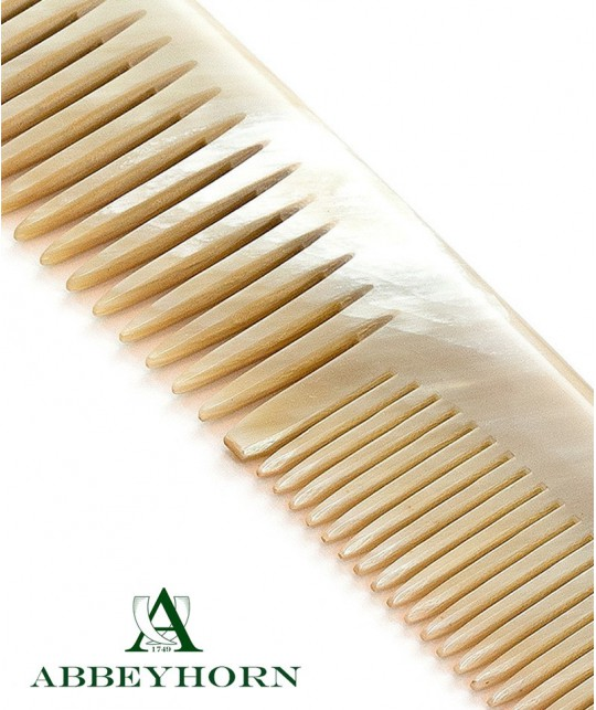 ABBEYHORN Horn Dress Comb double tooth (18,5 cm)