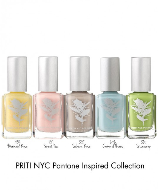 Priti NYC Natural Nail Polish 437 Mermaid Rose yellow pastel vegan green beauty
