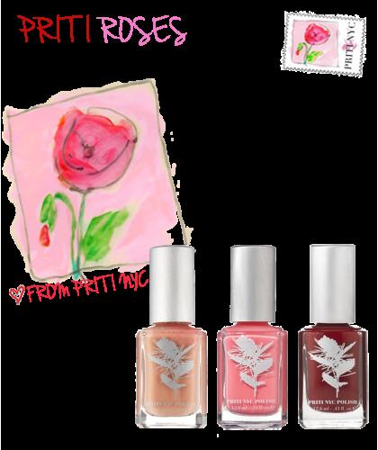 Priti NYC - Priti Roses - Trio Vernis à Ongles non-toxiques