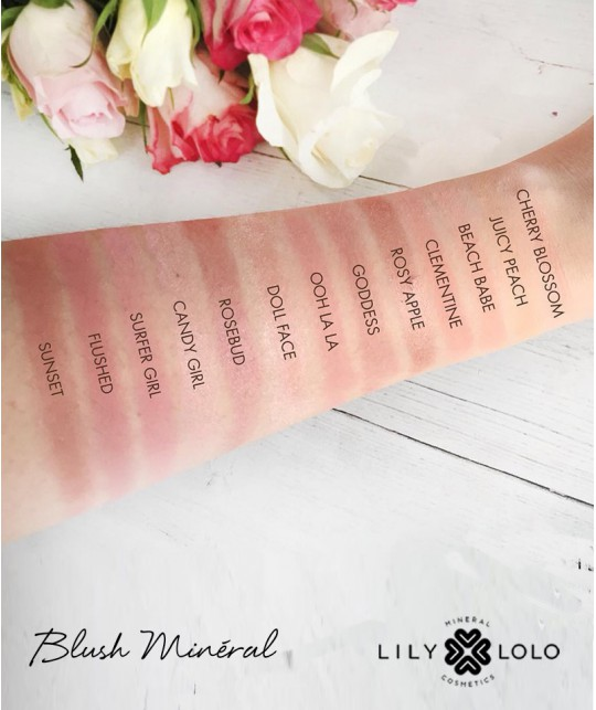 Lily Lolo - Blush Minéral maquillage bio swatch teintes beauté green naturel