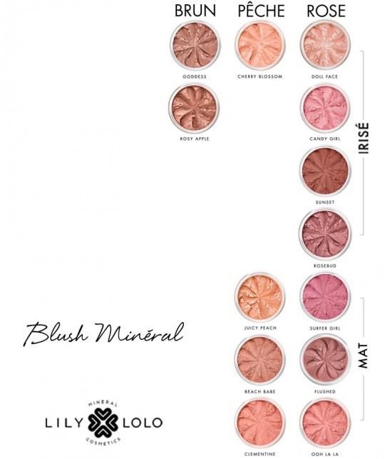 Lily Lolo Mineral Blush natural colors clean beauty green shades swatch