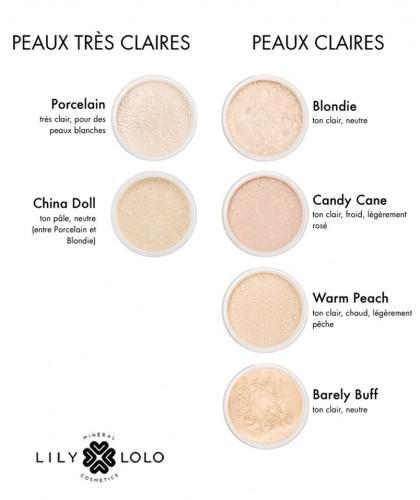 Lily Lolo Fond de Teint Minéral swatch teintes couleurs Blondie