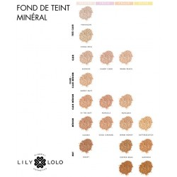 Lily Lolo maquillage Minéral fond de teint swatch 18 teintes