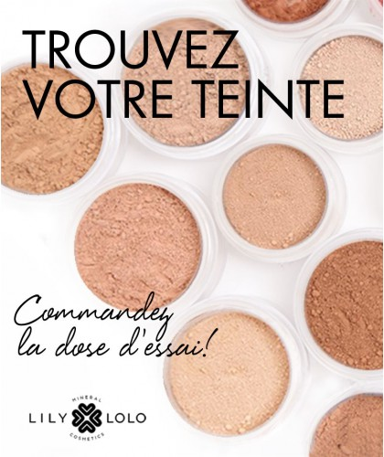 LILY LOLO Mineral Foundation sample size mini pot color shades SPF 15 In the Buff
