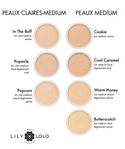LILY LOLO Mineral Foundation SPF 15 Warm Honey swatch