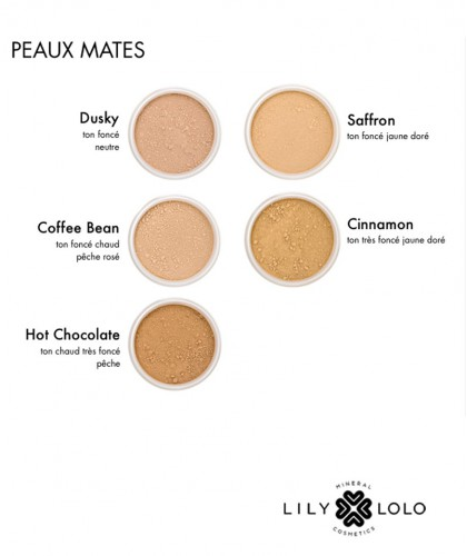 Lily Lolo maquillage SPF 15 Palette couleurs peaux mates