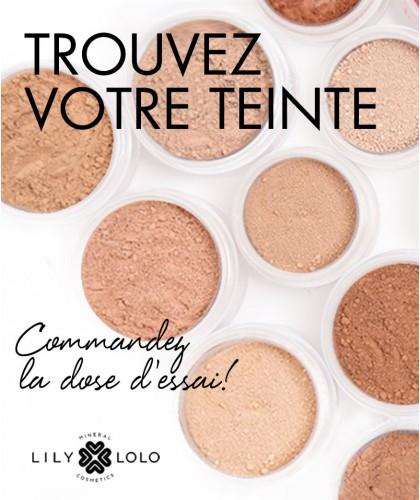 Lily Lolo Fond de Teint minéral échantillon dose d'essai nuance teinte couleur mini maquillage poudre libre -