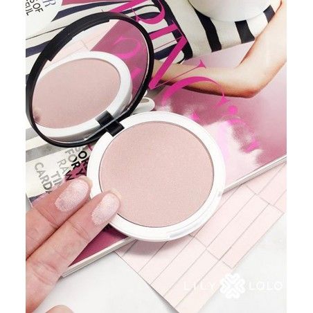 Lily Lolo - Illuminator Rosé pressed powder mineral cosmetics swatch