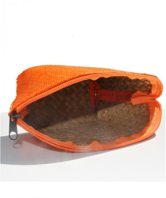 l'Officina Paris Straw Pouch orange