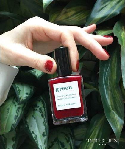 MANUCURIST Green Dark Pansy bordeaux Paris - Vernis non-toxique  - made in France naturel vegan