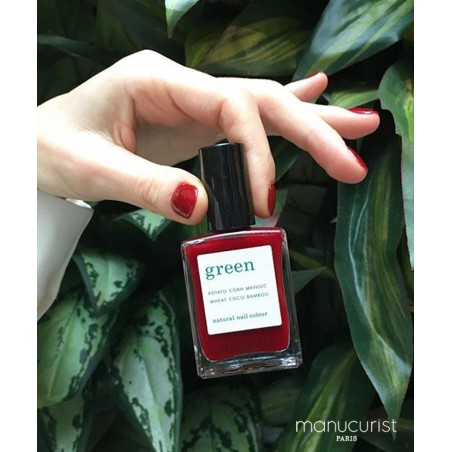 MANUCURIST Paris - Vernis non-toxique GREEN Dark Pansy - made in France naturel vegan