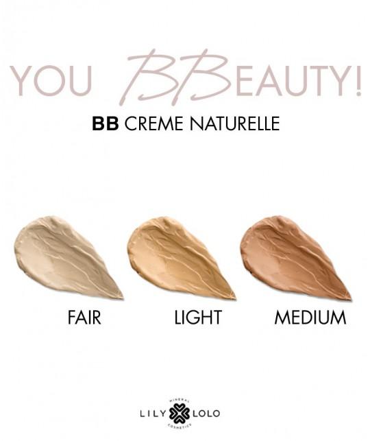 Lily Lolo  BB Crème Naturelle soin visage hydratant anti-âge teinte couleur choisir aloe vera végétal plantes maquillage minéral