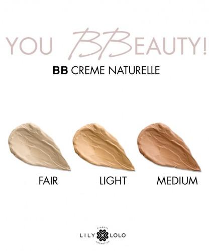 Lily Lolo BB Crème Naturelle maquillage minéral teint couleurs swatch hydratant unifie beauté végétal cosmétique bio green Paris