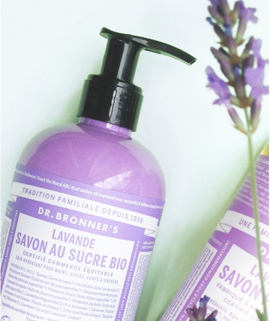 Dr. Bronner Lavender Organic Sugar Soap natural cosmetics