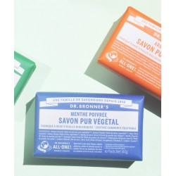 Dr. Bronner's Organic Bar Soap Peppermint Vegan