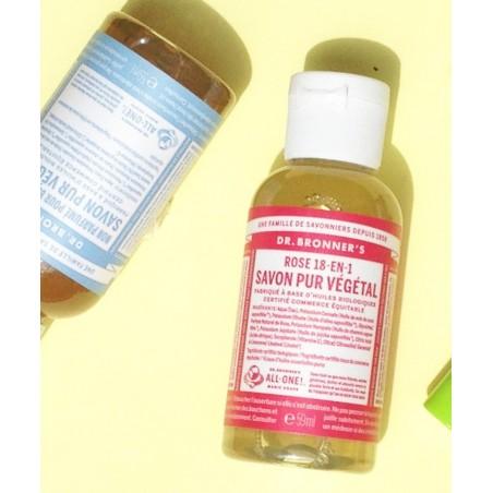 Dr. Bronner's Magic Soaps - Savon Liquide Pur Végétal Rose (mini 59ml)