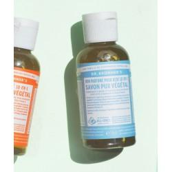 Dr. Bronner's - Savon Liquide bio Pur Végétal Non-Parfumé doux bébé flacon mini 60ml voyage peau sensible