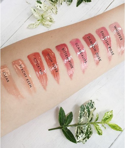 Lily Lolo maquillage Gloss Lèvres Naturel rendu teintes