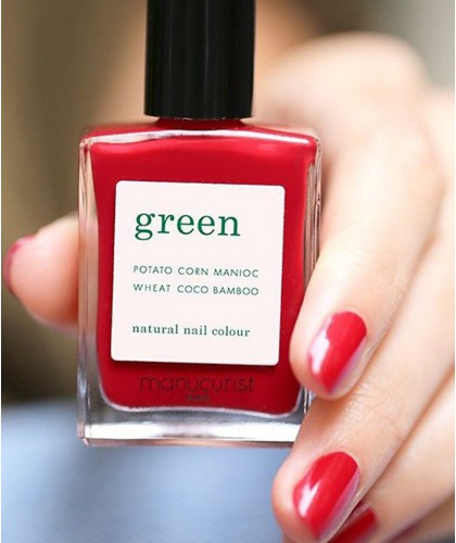 Manucurist Paris - Vernis naturel GREEN Dark Dahlia - made in France swatch