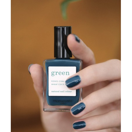 Manucurist Paris - Vernis naturel GREEN Dark Clover - non-toxique 9 free, vegan, made in France
