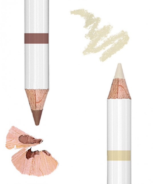 Lily Lolo - Augenbrauenstift Eyebrow Pencil Duo light 2in1 Naturkosmetik vegan swatch