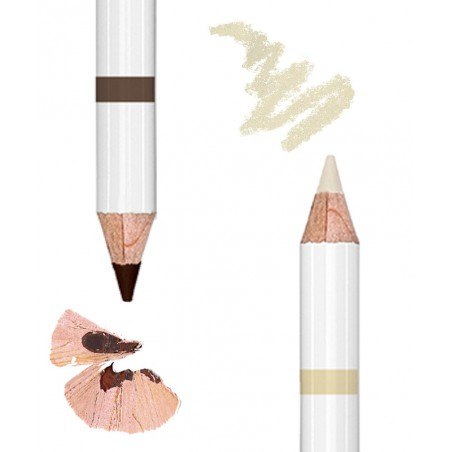 Lily Lolo Crayon Duo Sourcils Naturel 2en1- teinte medium maquillage végétal -