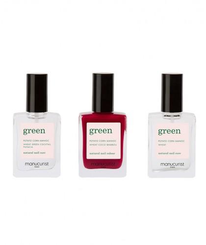 Manucurist Paris Coffret Green - Base, top coat et Vernis naturel Green Violeta