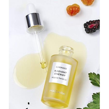 MADARA cosmétique  bio Huile visage Beauté teint végétal naturel Superseed Eclat plantes green pipette précieux elixir rare