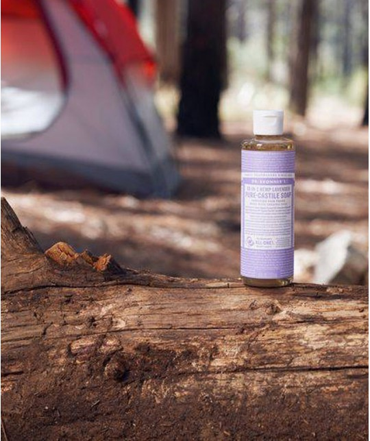 Dr. Bronner's - Organic Liquid Soap Lavender 475ml - 16 oz. camping backpack