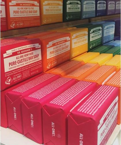 Dr. Bronner's - 4 organic Bar Soaps natural fair-trade vegan All-One magic