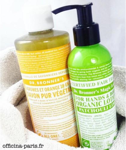 Dr. Bronner's Savon Liquide bio Pur Végétal 18-en-1 Agrumes Orange naturel citron peau sensible