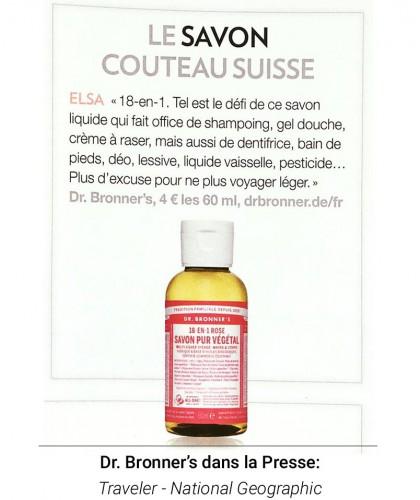 Dr. Bronner's - Organic Liquid Soap Rose travel size 60ml