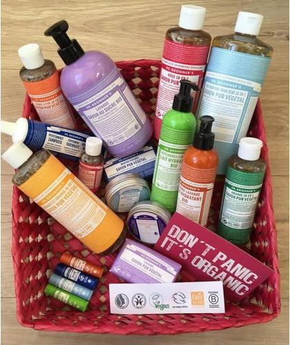 Dr. Bronners - cosmétique naturelle bio pur végétal savon baume lèvres dentifrice lait lotion corps peau sensible
