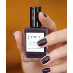 MANUCURIST Paris - Vernis à Ongles naturel non-toxique GREEN Queen of Night violet foncé manucure swatch