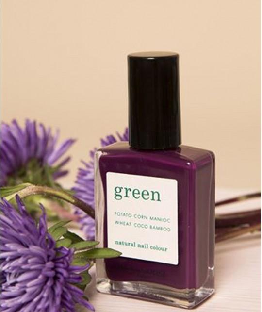 Manucurist Paris - Vernis à Ongles naturel GREEN Purple Spinel violet mauve vegan made in France