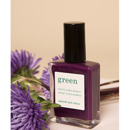 Manucurist Paris - Vernis à Ongles naturel GREEN Purple Spinel violet mauve vegan made in France