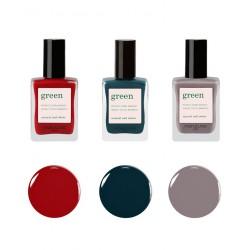 Manucurist Paris couleurs Automne Hiver Vernis à Ongles naturels GREEN beauté maquillage made in France
