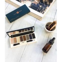 LILY LOLO maquillage minéral Aurora Palette Yeux Stellar fard à paupières végétal jojoba green beauté swatch envoutant