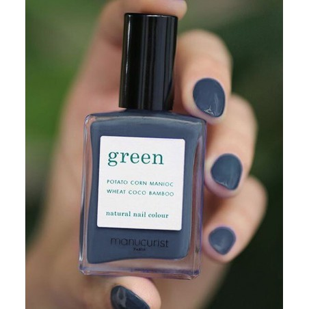 MANUCURIST Paris Vernis à Ongles naturel GREEN Poppy Seed gris non-toxique vegan made in France