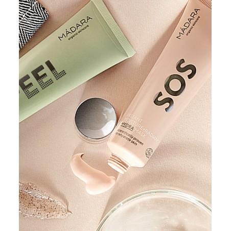 MADARA cosmétique naturelle Masque visage végétal hydratation intense SOS plantes fleurs peau stressée terne déshydratée sèche