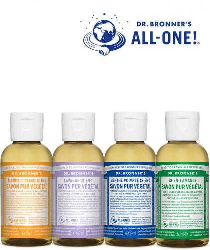 Dr. Bronner's Magic Box giftset 4 organic liquid soaps 60ml