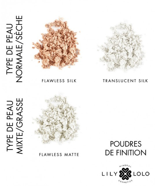 Lily Lolo - Poudre de Finition Minérale Flawless Silk swatch teintes maquillage