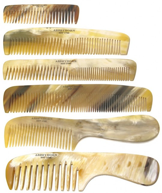 Peignes en corne Abbeyhorn véritable naturelle fait main en Angleterre
