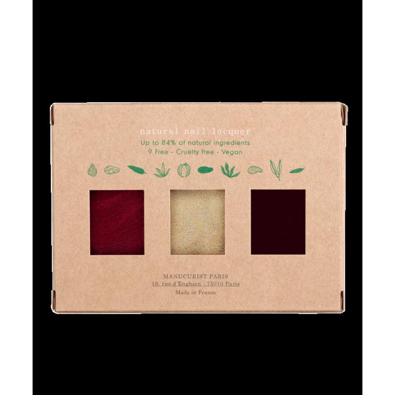 Manucurist Paris Coffret Holidays Collection Noël Vernis à Ongles naturels GREEN