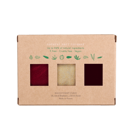Manucurist Paris Coffret Holidays Collection Noël Vernis à Ongles naturels GREEN
