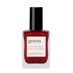 Manucurist Paris Vernis naturel Green Red Hibiscus collection Noël made in France
