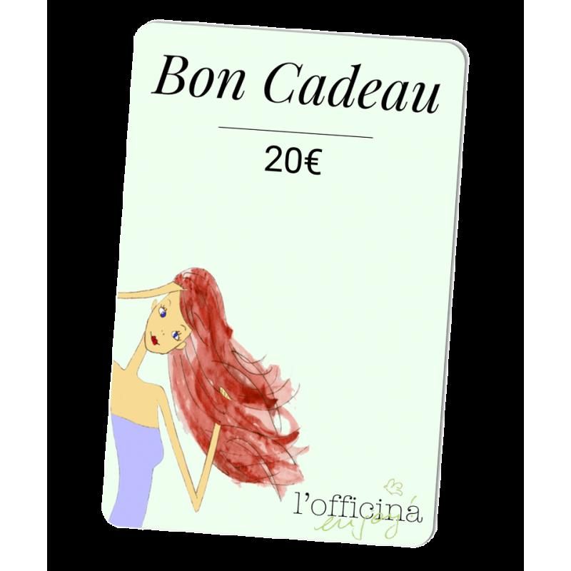 L'Officina Paris cosmétiques naturels et bio Bon Cadeau 20 Euros