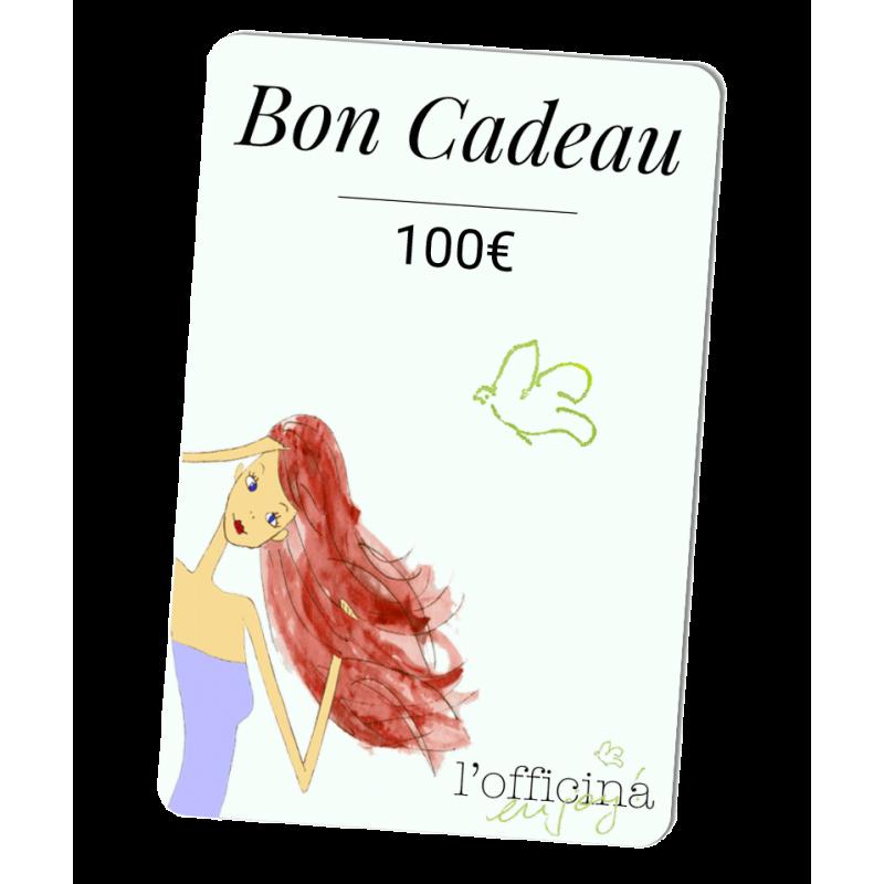 L'Officina Paris cosmétiques naturels et bio Bon Cadeau 100 Euros