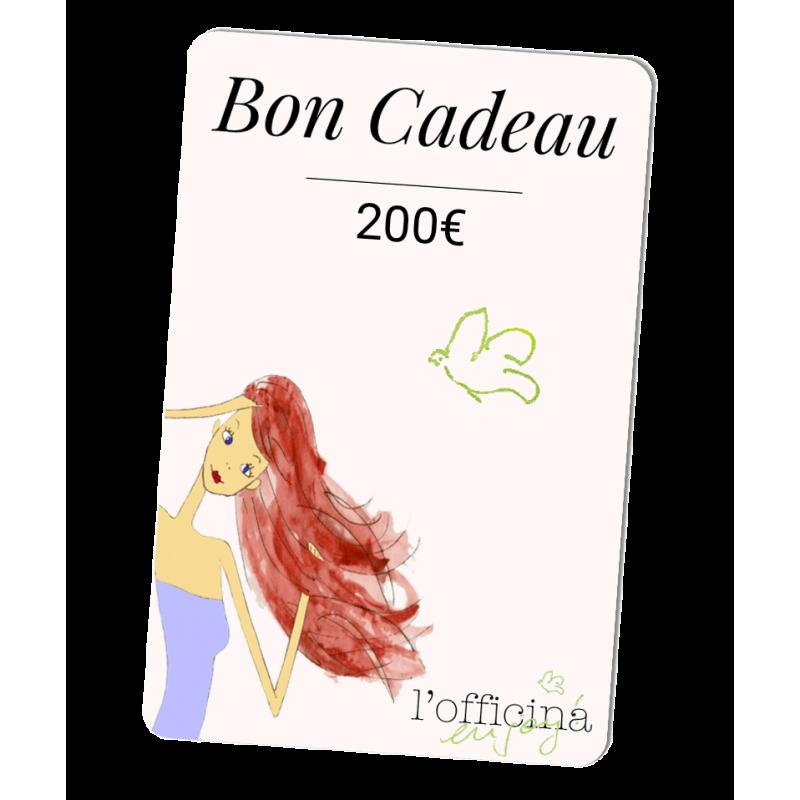 L'Officina Paris cosmétiques naturels et bio Bon Cadeau 200 Euros