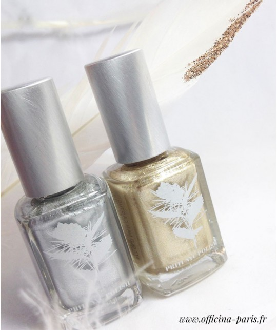 Priti NYC Natural Nail Polish 681 Chrysanthos Gold Metallic clean beauty vegan